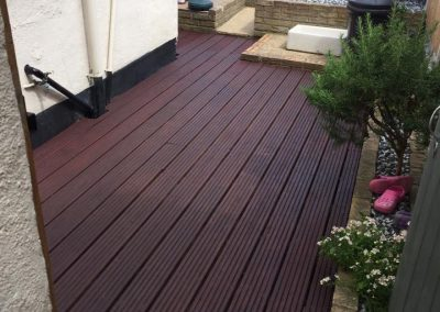 Decking repaired and repainted