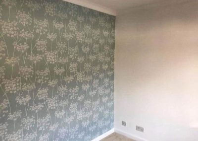 Feature wall and bedroom redecoration